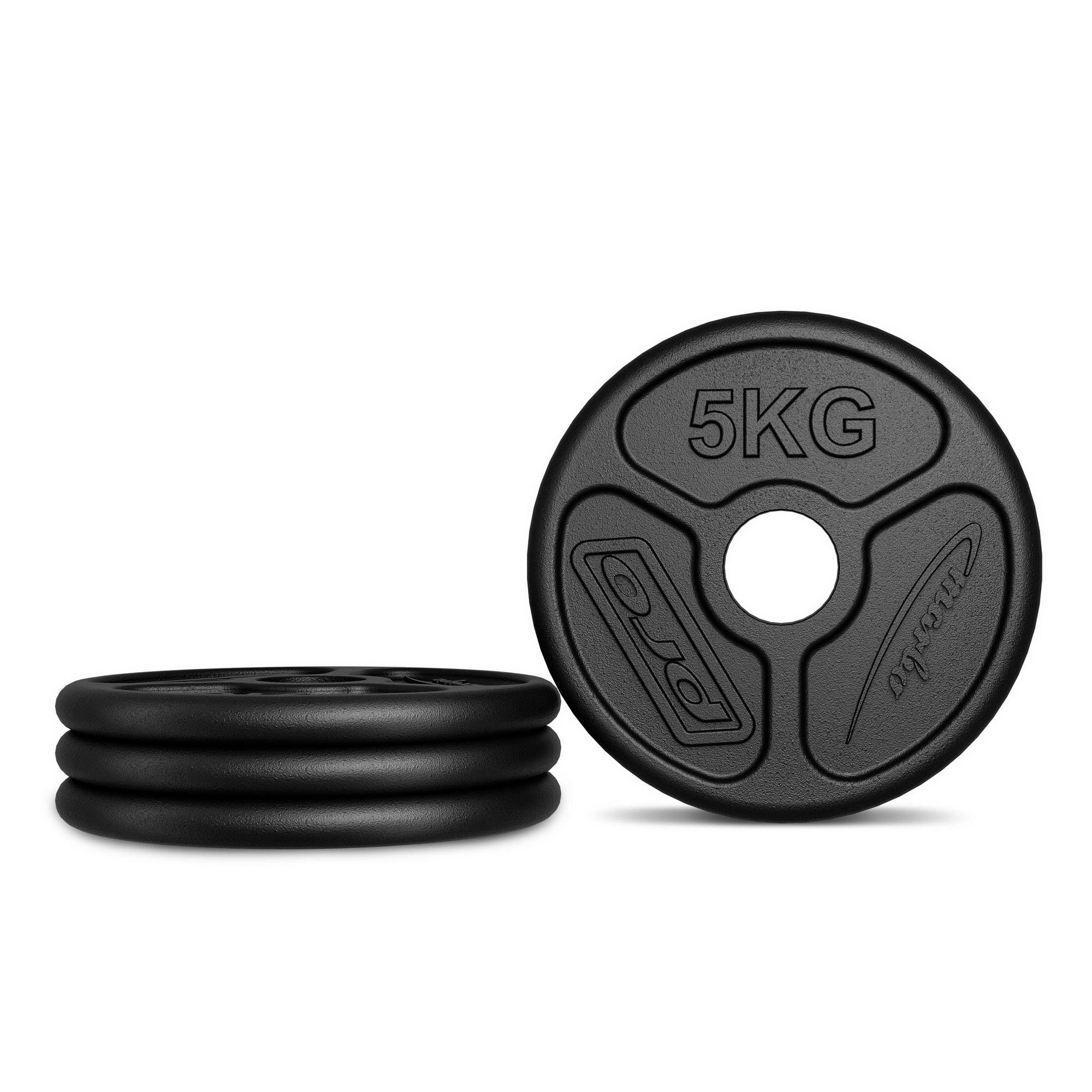 Marbo Sport Olympia Guss Hantelscheiben-Set Gewichte mit /ø50//51 mm Bohrung Set 30kg Made in EU 50kg 60kg zur Auswahl