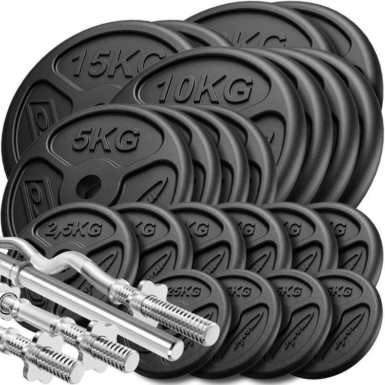 Hantelscheiben-Set 2x 15kg Hantelscheiben mit Griffen Hantelscheibe Gewicht
