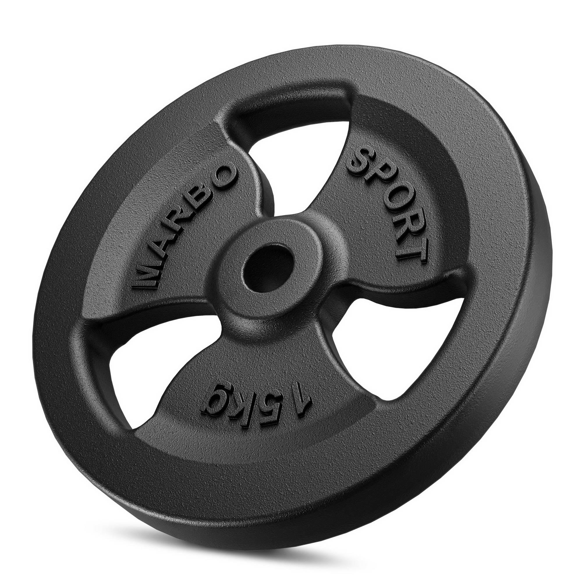 Marbo Sport Olympia Hantelscheiben aus Gusseisen Set 60 kg 2 x 10kg 2 x 20kg